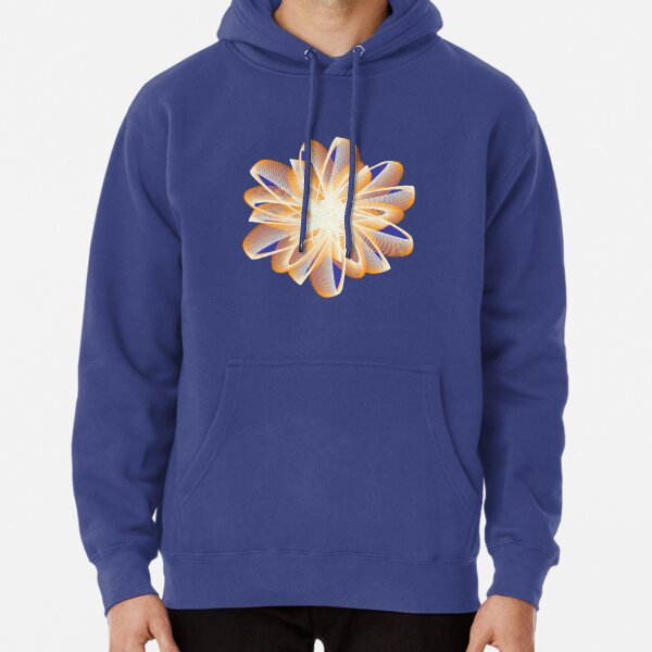 Abstract flower in orange Pullover Hoodie