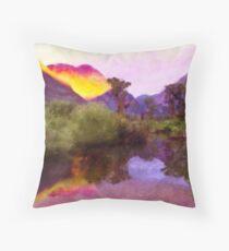 Beaver Pond Sunrise Throw Pillow