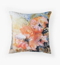 Holly hock series 2 Throw Pillow