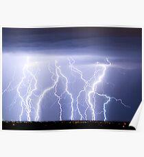 Crazy Lightning Skies Poster
