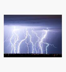 Crazy Lightning Skies Photographic Print