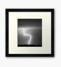 C2G Lightning Strike in Black and White Framed Print