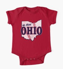 We Bleed Ohio - Logo Tribe Red One Piece - Short Sleeve