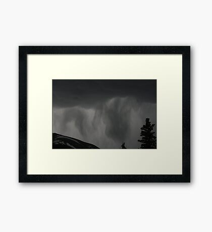 Rain Approaching Framed Print