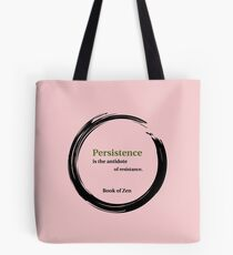 Motivation and Persistence Quote Tote Bag