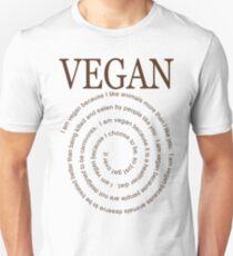 Vegan Because Unisex T-Shirt