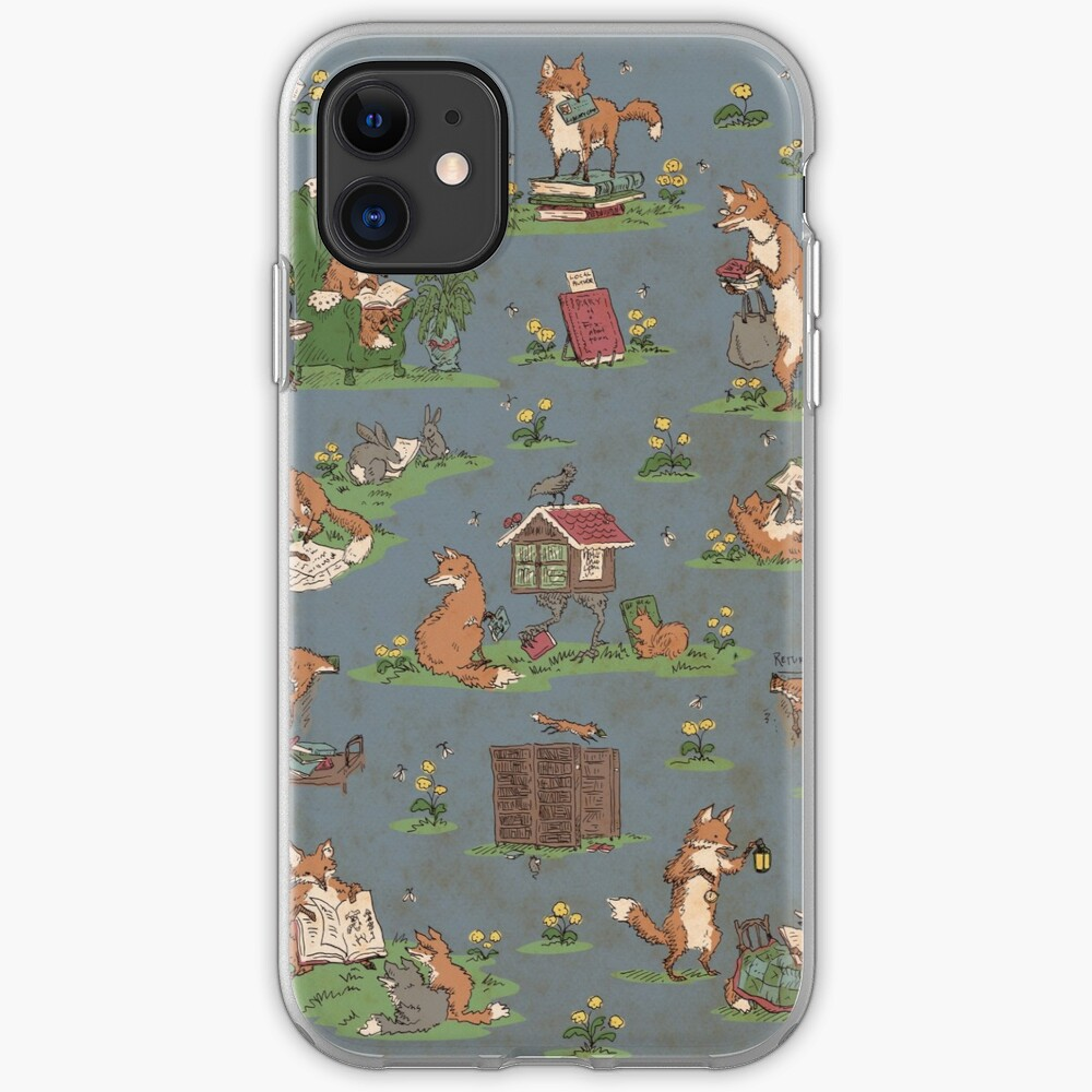 Library Foxes iPhone Case & Cover