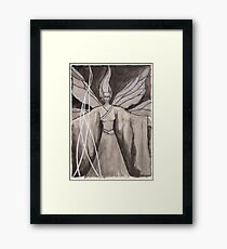 Moth Girl Framed Print