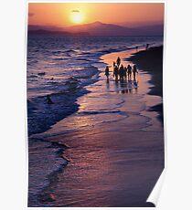Jewel-toned Sunset Poster