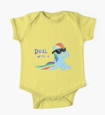 My Little Pony - MLP - Rainbow Dash - Deal With It One Piece - Short Sleeve