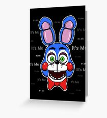 Five Nights at Freddy's - FNAF 2 - Toy Bonnie - It's Me Greeting Card