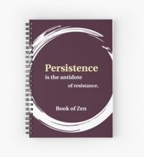 Quote About Motivation & Persistence Spiral Notebook