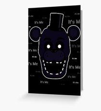 Five Nights at Freddy's - FNAF 2 - Shadow Freddy - It's Me Greeting Card