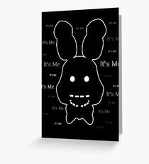 Five Nights at Freddy's - FNAF 2 - Shadow Bonnie - It's Me Greeting Card