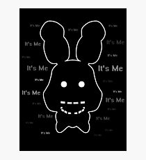 Five Nights at Freddy's - FNAF 2 - Shadow Bonnie - It's Me Photographic Print