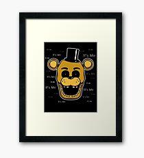Five Nights at Freddy's - FNAF - Golden Freddy - It's Me Framed Print