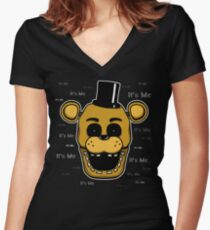 Five Nights at Freddy's - FNAF - Golden Freddy - It's Me Women's Fitted V-Neck T-Shirt