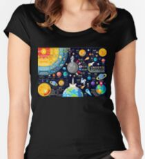 Space Universe Infographics Big Bang Women's Fitted Scoop T-Shirt