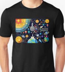 Space Universe Infographics Big Bang T-Shirt