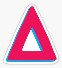 vs. inspired triangle Sticker