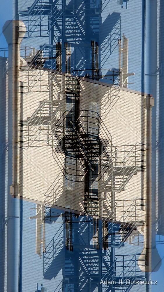 Cubist Fire Escape by Adam JL Dutkiewicz