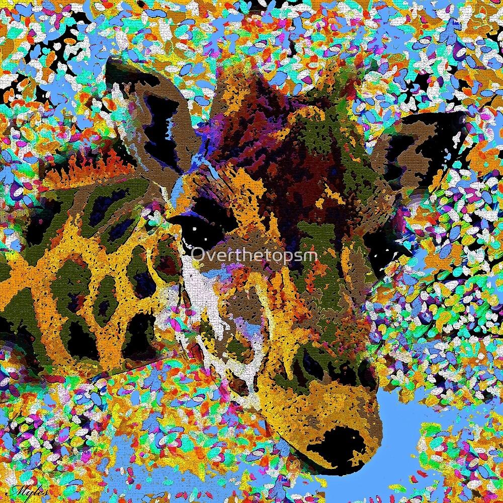 The Giraffe Oil Painting by Saundra Myles