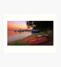 River at Dusk Art Print