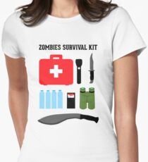 Zombie survival kit Women's Fitted T-Shirt
