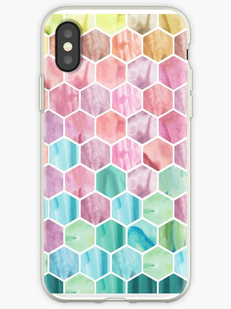 Watercolour Hexagon Pattern by JHKDesign
