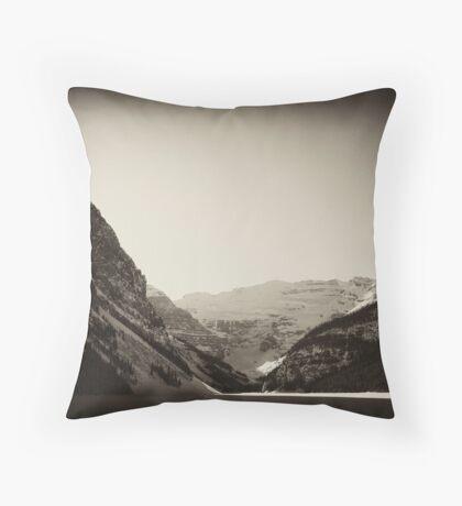 Wintertime at Lake Louise Throw Pillow