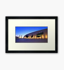 Champalimaud Centre for the Unknown . sunset Framed Print