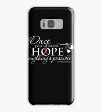 Breast Cancer Inspirational Quote Samsung Galaxy Case/Skin