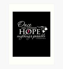 Breast Cancer Inspirational Quote Art Print
