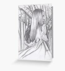 Portrait of Model Tara Leigh Greeting Card