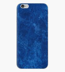 Navy blue grunge cloth sheet  iPhone Case