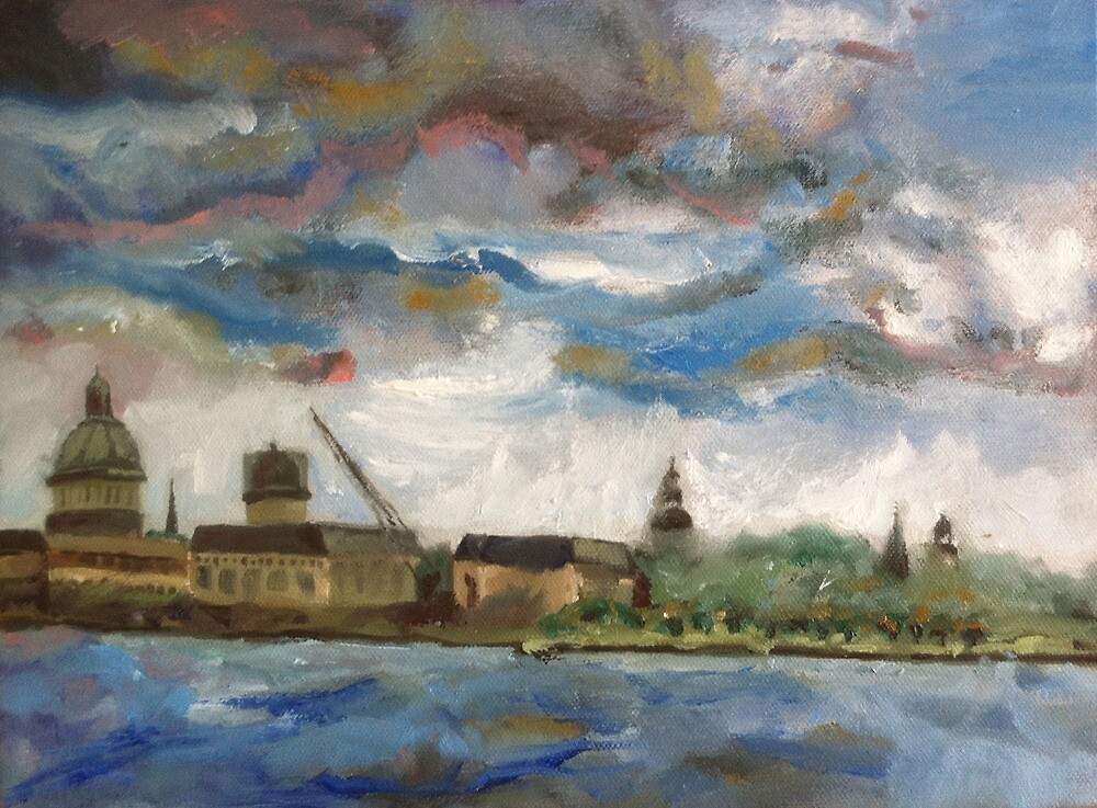 Annapolis Skyline before Hurricane Irene by Phyllis Dixon