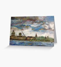 Annapolis Skyline before Hurricane Irene Greeting Card
