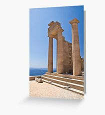 Ancient Temple ruins in Rhodes, Greece Greeting Card