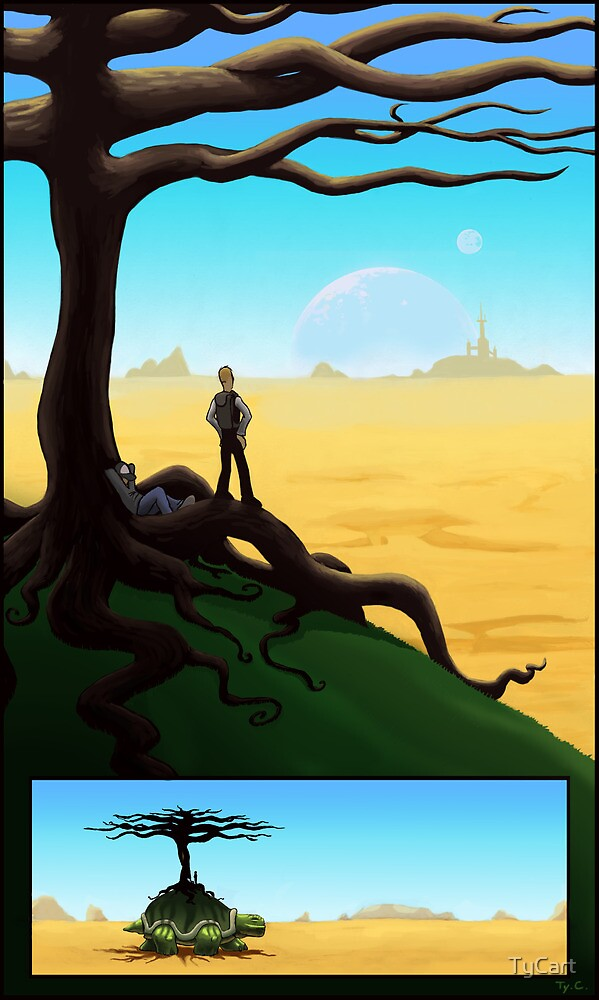 Crossing the Desert on a Giant Turtle by TyCart