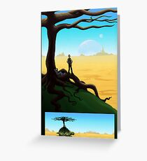 Crossing the Desert on a Giant Turtle Greeting Card