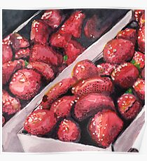 Strawberries in Cartons Poster