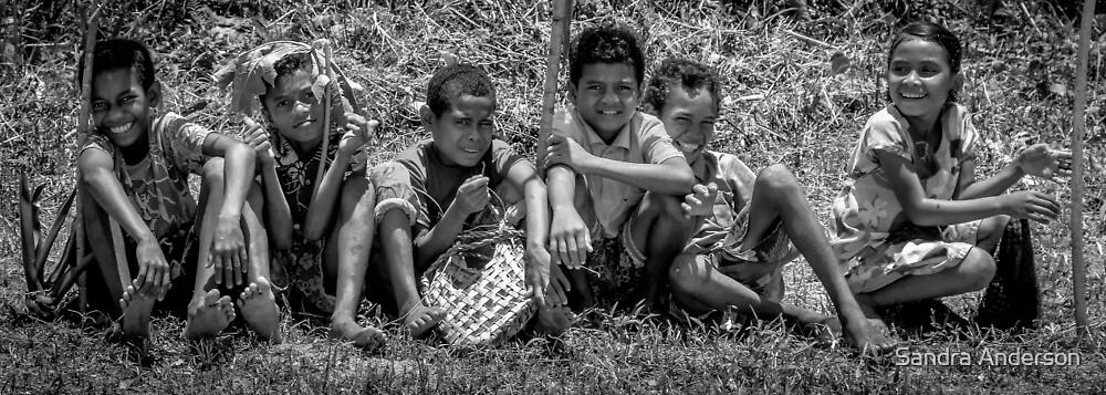 Island Children of Papua New Guinea by Sandra Anderson