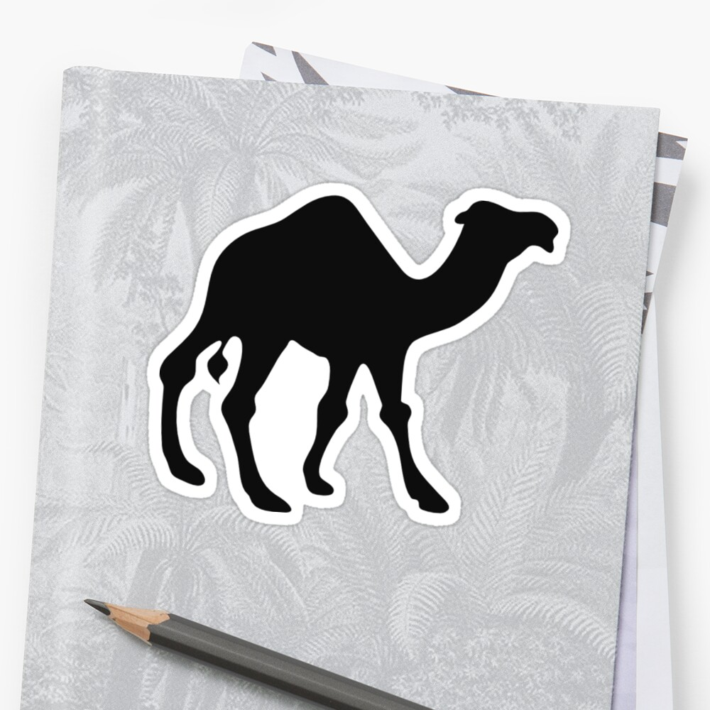 black camel shape stencil sticker