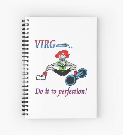 Virgo - do it to perfection Spiral Notebook