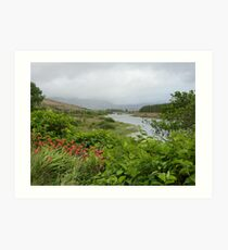 View up the river. Art Print