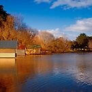 Lake Wendouree Boathouses by Dean Gerrard