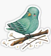 Little blue bird Sticker