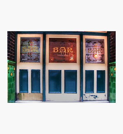 Bar Door (In Colour)  Photographic Print