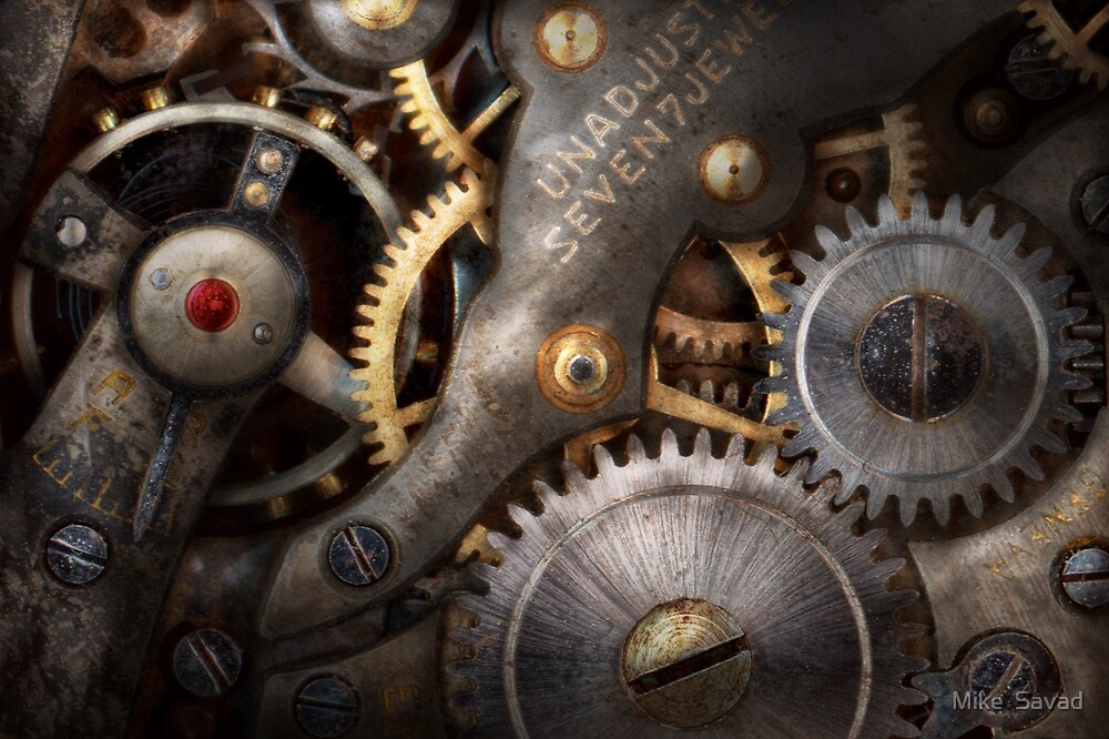 Steampunk - Gears - Horology by Michael Savad