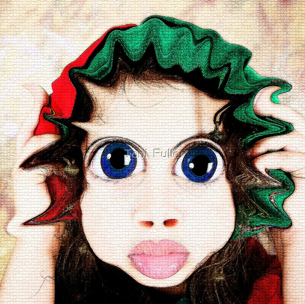 Happy Warped Christmas Elf  by Toni  Fuller